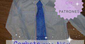Cómo hacer una corbata para niño, facil. Tutorial DIY con patrones.