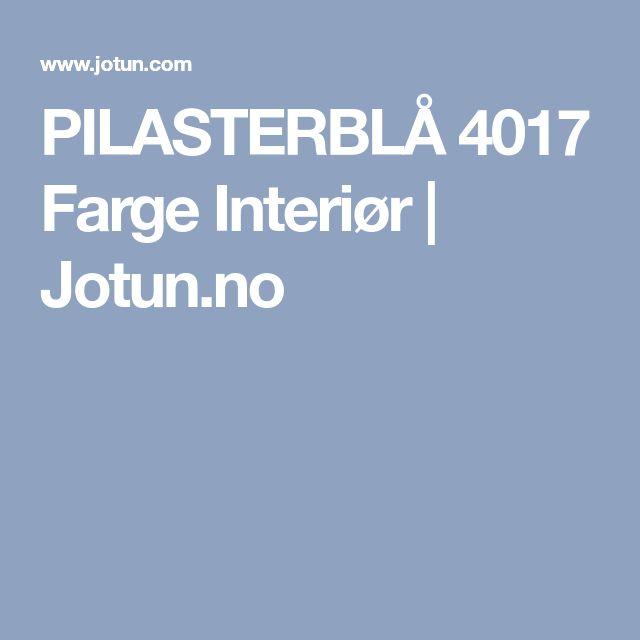 PILASTERBLÅ 4017 Farge Interiør | Jotun.no