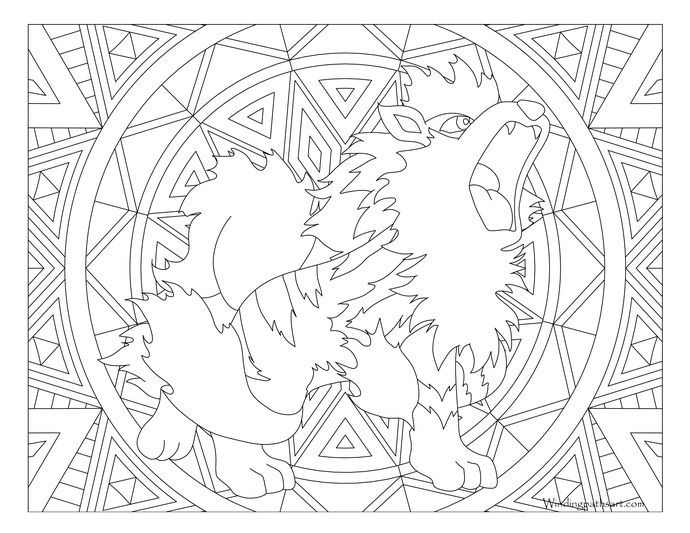 059 Arcanine Pokemon Coloring Page Pokemon Coloring Pages