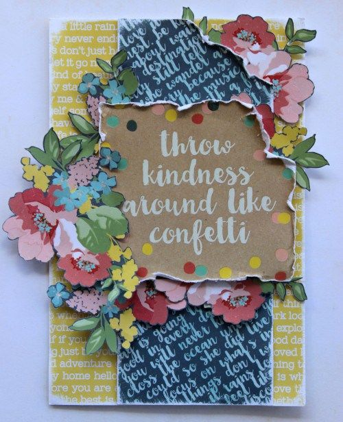 Cathy Cafun, Confetti Card. Kaisercraft Findeers Keepers