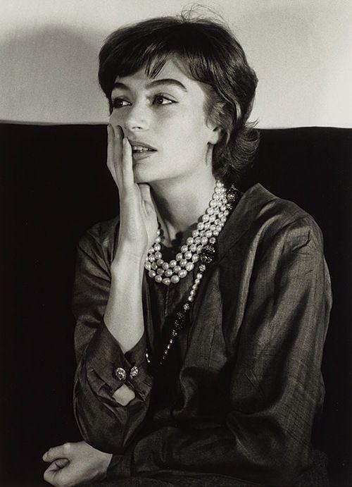 Gisèle FREUND portrait of Anouk Aimée, Paris, 1962