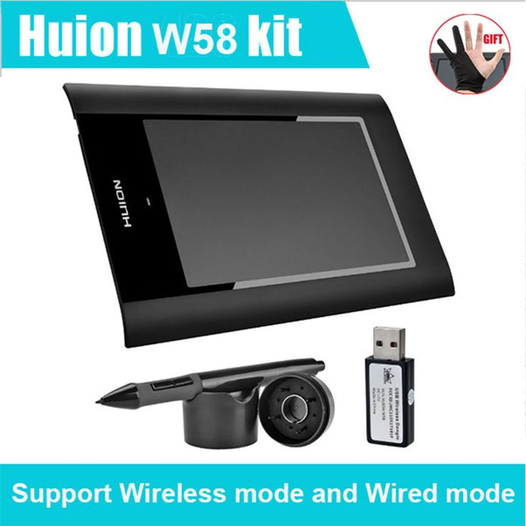 "HUION W58 8"" Digital Graphic Tablets Wireless Drawing Tablet for Drawing Graphic Tablet OSU For PC Computer"