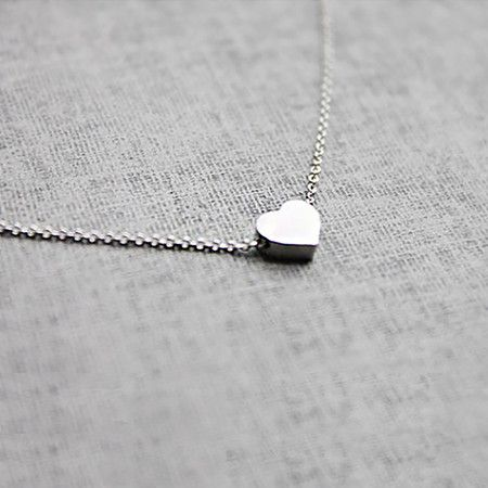 Tiny <3 Necklace in Silver