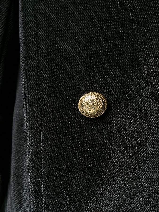Balmain Velvet Button Embellished Blazer Sponsored Spon Velvet Balmain Button Button Embellished Diy Fashion Accessories Military Inspired Jacket
