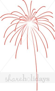 Bursting Red Firework Clipart