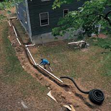 How to Extend a Downspout Connecting downspouts to buried drainpipes can help dry out a wet basement and soggy lawn
