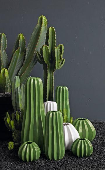 Die Vasen 'Cactus' von ASA sind in jedem Wohnzimmer ein Hingucker