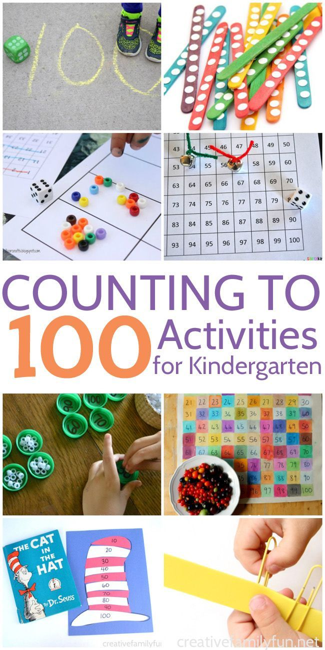 Counting to 100 Activities for Kindergarten