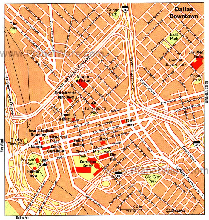 Dallas Map - Tourist Attractions