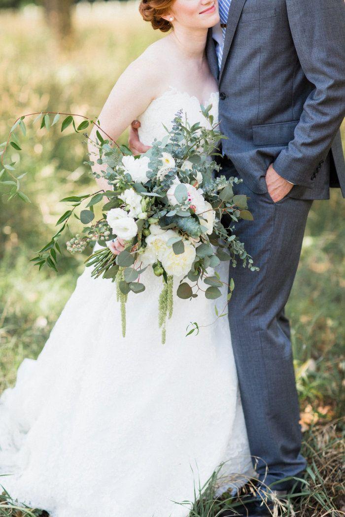 Lush Natural Organic Wedding Bouquet