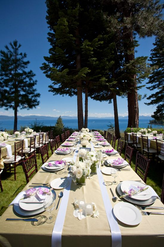 Romantic Lake Tahoe Wedding Inspiration Board