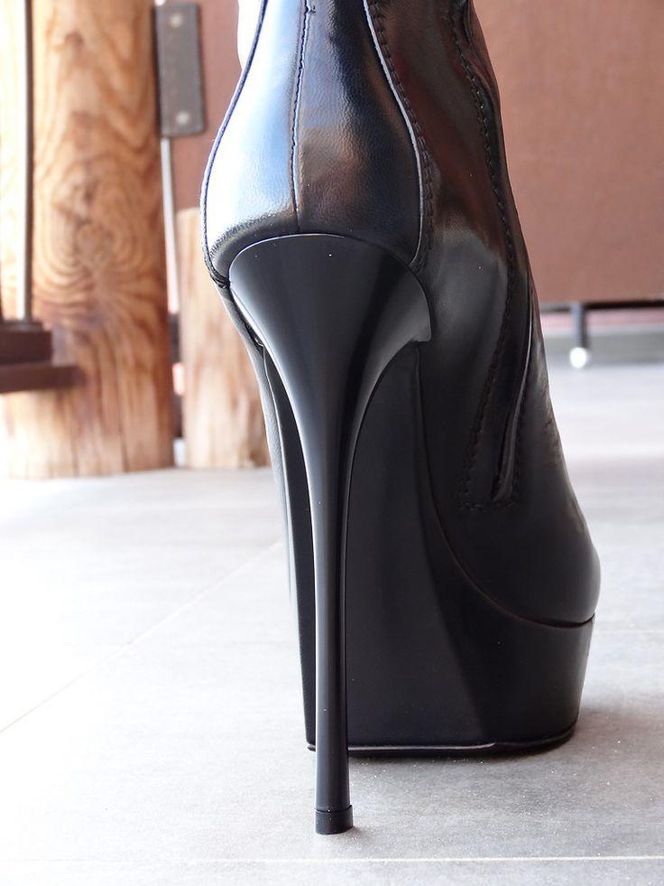 My wife in her new Gianmarco Lorenzi boots.