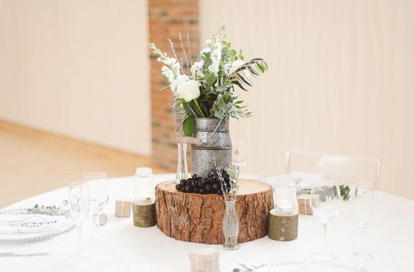 How To Style A Milk Churn Wedding Table Centrepiece - available from @theweddingomd