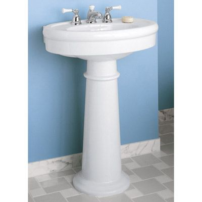 American Standard   Standard Collection Pedestal Sink   8 Inch Faucet  Drillings 26 3/4