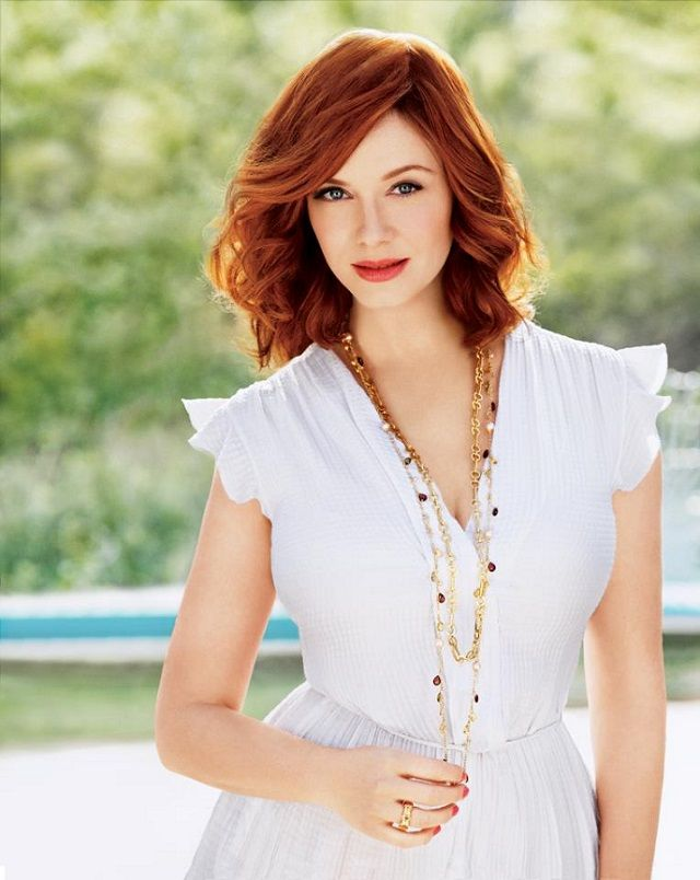 Christina Hendricks -- Everything: the hair, the neckline, the necklace, the effortless sexiness.