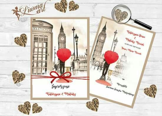 www.liwmaart.pl 💖👰#INVITATION #WEDDING #LONDON #BIGBEN #REDPHONEBOOTH #zaproszenia #ślub #londyn #czerwonabudkatelefoniczna #budka #telefon #weddingcard