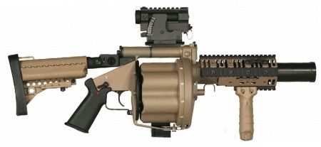 M32 Grenade Launcher. When the finger just doesn't cut it