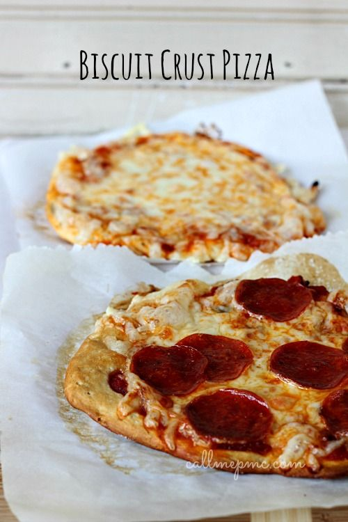 Easy Individual Pizza made quick and simply using canned biscuits for the crust #AppetizerWeek #OXO