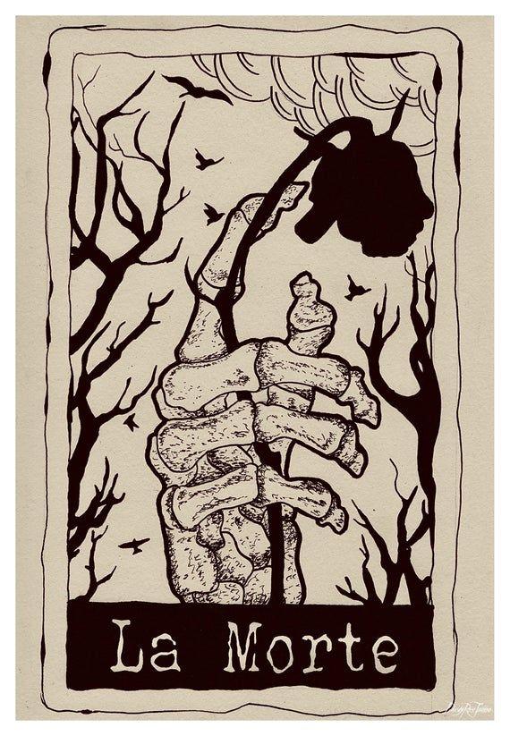 La Morte Tarot Card Original Art Print Original Art Print Fine Art Print Death Art Death Card D Death Art Tarot Cards Art Tarot Tattoo