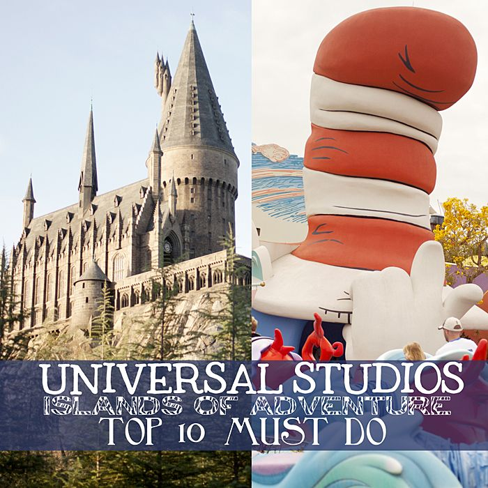 Universal Studio's Islands of Adventure top 10 best attractions #universal