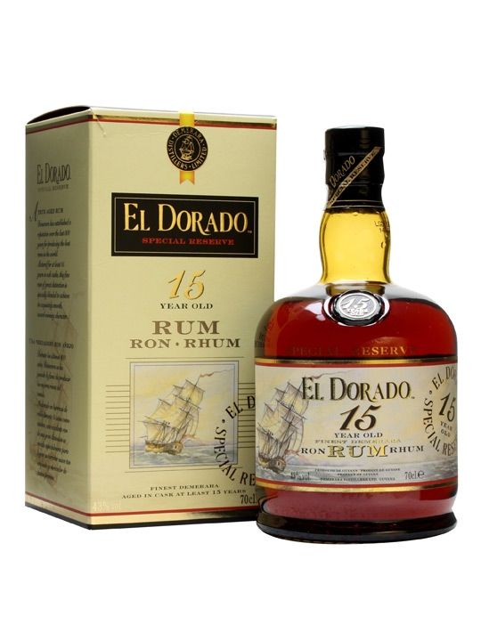 El Dorado 15yo is a remarkable rum, whose greatest achievement was collecting the Wray & Nephew Trophy for Best Rum in the World at the International Wine & Spirits Challenge for an unprecedented f...