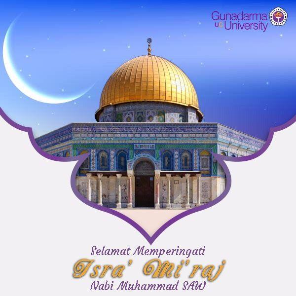 Selamat memperingati Isra' Mi'raj Nabi Muhammad saw. Semoga kita mampu meningkatkan keimanan & ketaqwaan kita kepada Allah swt. dan selalu meneladani akhlak Nabi Muhammad saw.