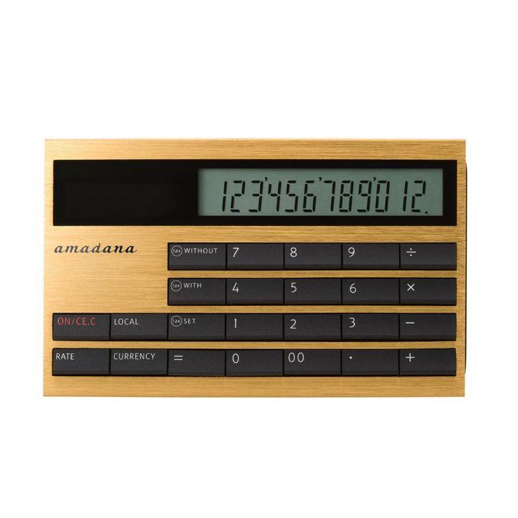 カード型電子計算機(LC-404-GD)|電子計算機 | amadana(アマダナ) - amadana ONLINE STORE