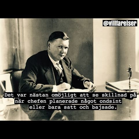 #ondsint #bajs #chef #chefen #villfarelser #ironi #humor #poesi #text #foto