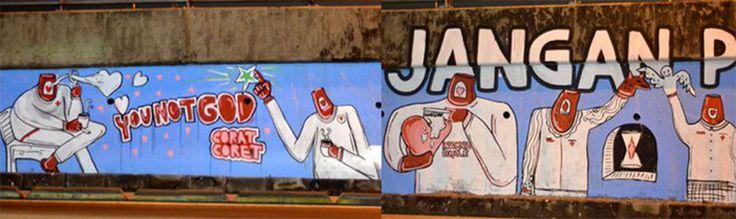 you not god , matraman jakarta    #streetart #mural #visualart #public