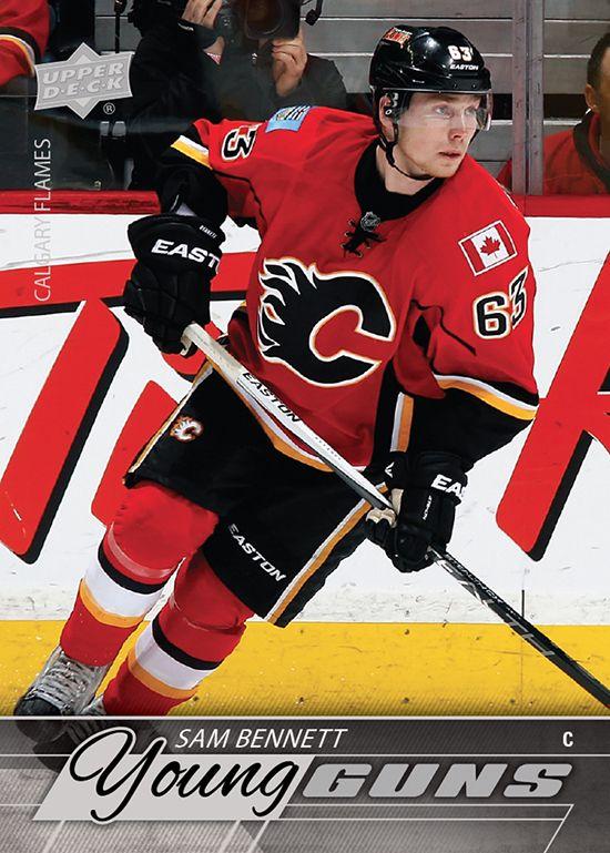 2015-16 NHL Upper Deck Series I Young Guns rookie card Sam Bennett