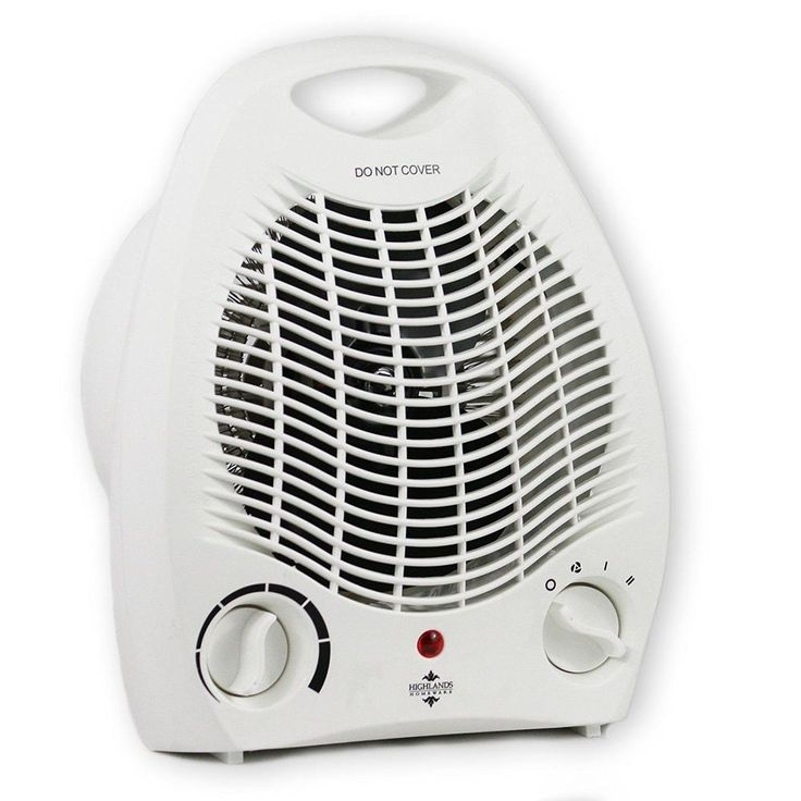 Electric Portable Fan Heater Adjustable Thermostat Silent Small Home Office 2 KW #Highlands