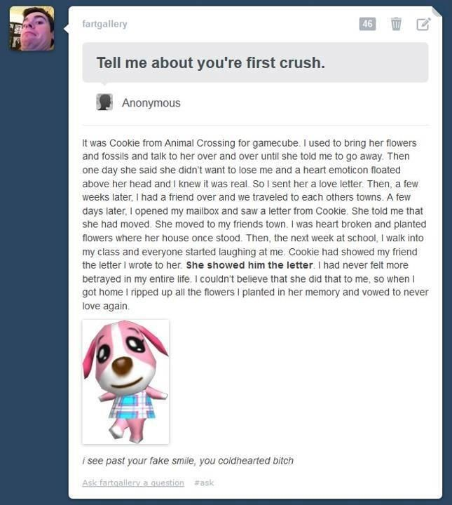Animal Crossing - First Love. Haha! I don't like Cookie that much. I love Rod! xD