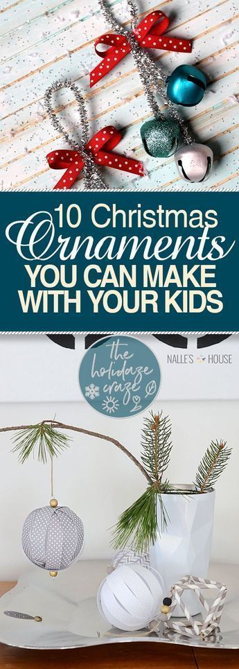10 Christmas Ornaments You Can Make With Your Kids| Christmas Ornaments, Christmas Ornament Projects, DIY Christmas Ornaments, Kid Friendly Crafts, Kid Friendly DIY Crafts, Ornament Crafts, Christmas Crafts, Christmas Crafts for Kids. . . #Christmas #DIYChristmasOrnaments #DIYChristmas #handmadegifts #handmadechristmas #christmasDIY #DIYgifts #handmadegiftsmen #handmadegiftsmom #handmadegiftsdad #handmadegiftsoffice #handmadegiftsdiy #diycrafts