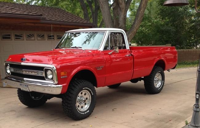 1969 chevy c20 pickup for sale at 4x4 39 s pinterest chevy vehicles and nice. Black Bedroom Furniture Sets. Home Design Ideas