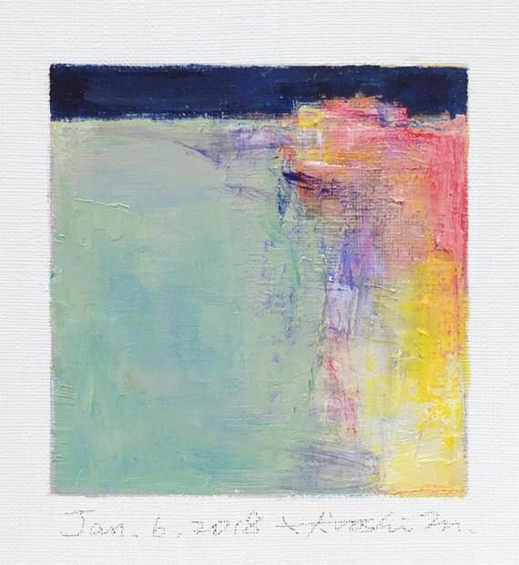Jan. 6 2018 Original Abstract Oil Painting 9x9 painting