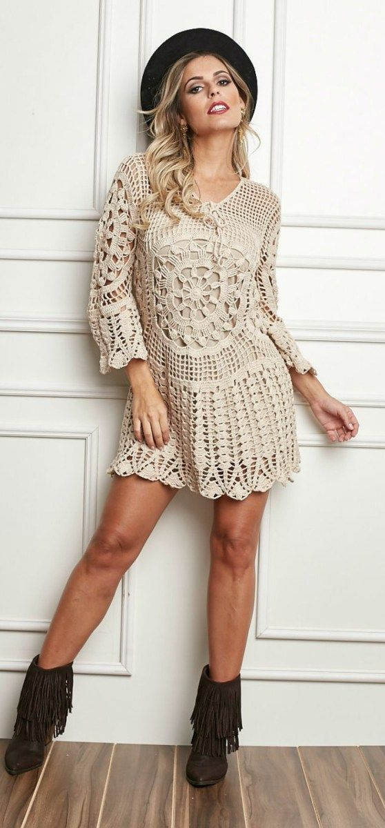 Crochet dress, free pattern.