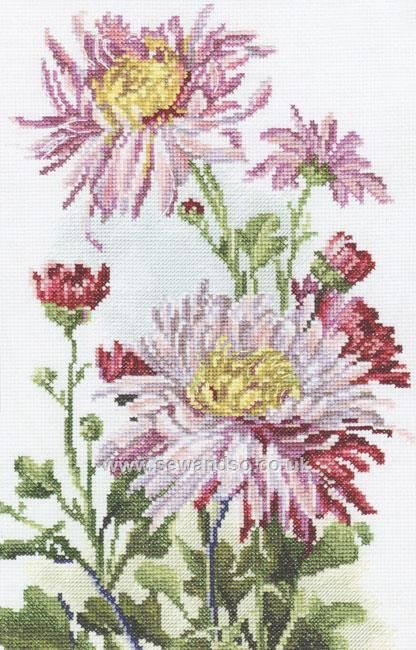 Shop online for Pink Chrysanthemum Cross Stitch Kit at sewandso.co.uk. Browse our great range of cross stitch and needlecraft products, in stock, with great prices and fast delivery.