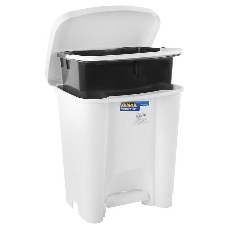 Basurero Blanco 15 litros-Sodimac.com $7.990