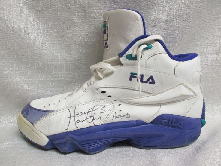 Hersey Hawkins Signed Charlotte Hornets Game Used Fila Basketball Shoe JSA in Sports Mem, Cards & Fan Shop, Autographs-Original, Basketball-NBA | eBay