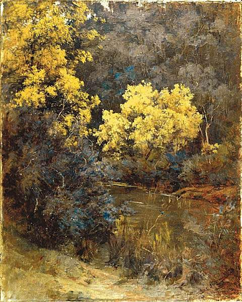 """A Cool Corner"" by Clara Southern, Australian artist, 1861-1940"