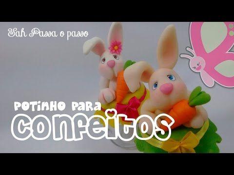 (DIY) PASSO A PASSO POTE COELHINHO FOFINHO - YouTube