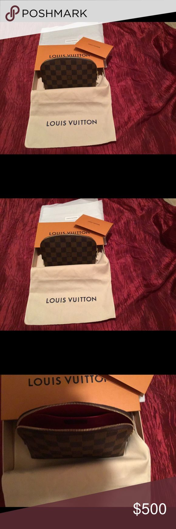 Authentic Louis Vuitton cosmetics pouch. Brand new and
