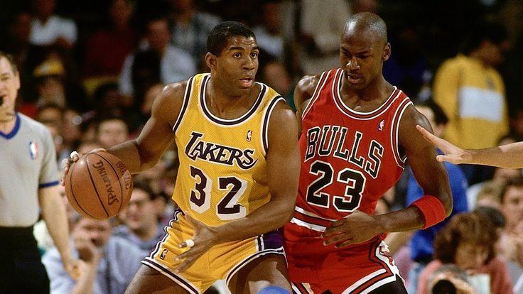 Michael Jordan Chicago Bulls vs Magic Lakers NBA Basketball Final ...