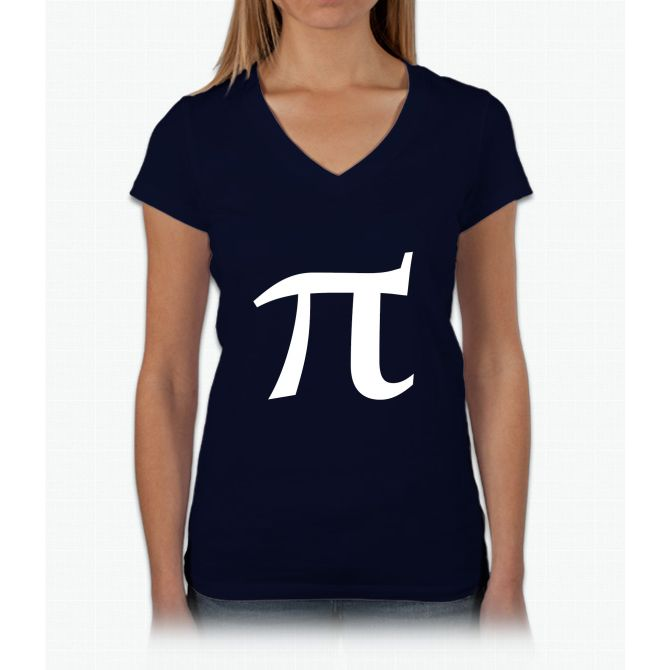 Pi Symbol For Pi Day Womens V Neck T Shirt Products Pinterest