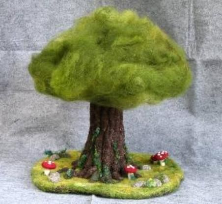 Needle felted tree..the person who did this is very talented...a lot of work went into this.