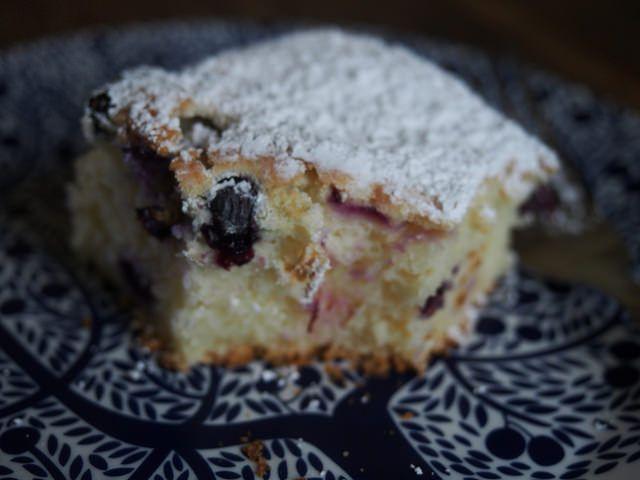 lemon + blueberry cake (gluten free)