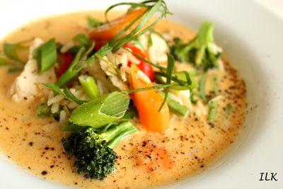 Thai kyllingsuppe panang!