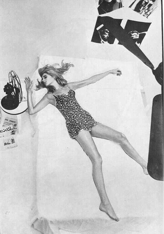 "Vogue UK 1965 ""Heatwave Holiday"" Model: Jill Kennington Photographer: Helmut Newton"