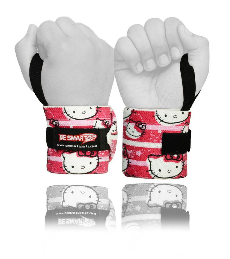 Kitty Ladies Weight Lifting Wrist Wraps Bandage Hand Support Gym Straps Brace