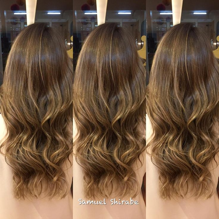 Instagram @sshirabe • cabelo dani_wanderley - highlights • mechas finas • luzes • ombre • balayage